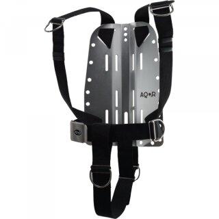 AQOR 3 mm Edelstahlbackplate mit DIR Harness
