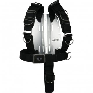 AQOR 3 mm Edelstahl Backplate mit Adjustable Harness