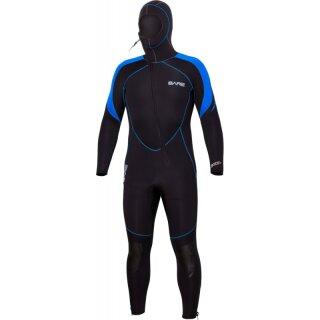 7mm Sport S-Flex Hooded Full, Blue, Men