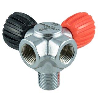 Nautec SLM Ventil AIR 230 bar 2 Abgänge