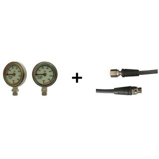 Finimeter Tek Deep 50 mm mit 15cm Miflex HD Schlauch