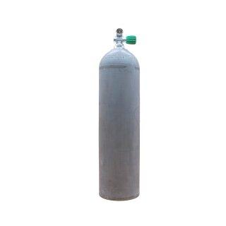 MES 11,1 L Aluflasche natur 207 bar mit Nitrox Ventil 12400