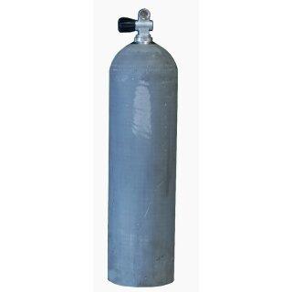 MES 11,1 L Aluflasche natur 207 bar mit Ventil 12144