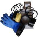 Checkup Dive Sytem Ring Set & Handschuhe Blue