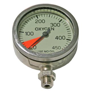 SPG 63mm 430bar Oxygen nickel-plated