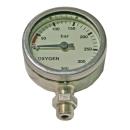 Finimeter 52mm 270bar Oxygen nickel-plated