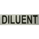 Sticker DILUENT (small 17x5 cm) white/black 17cm x 5cm